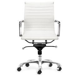 @Overstock - Chrome-plated, steel frame office chair looks as good as it worksOffice furniture features rolling base for effortless comfortWashable leatherette furniture easy to keep cleanhttp://www.overstock.com/Home-Garden/Manhattan-Adjustable-White-Office-Chair/3097390/product.html?CID=214117 $187.99