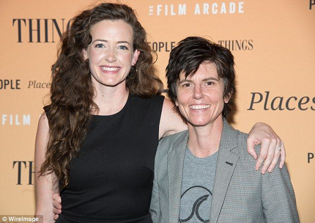 Expecting! Tig Notaro, 44, (right) and her new wife Stephanie Allynne, 31, (left) have ann...