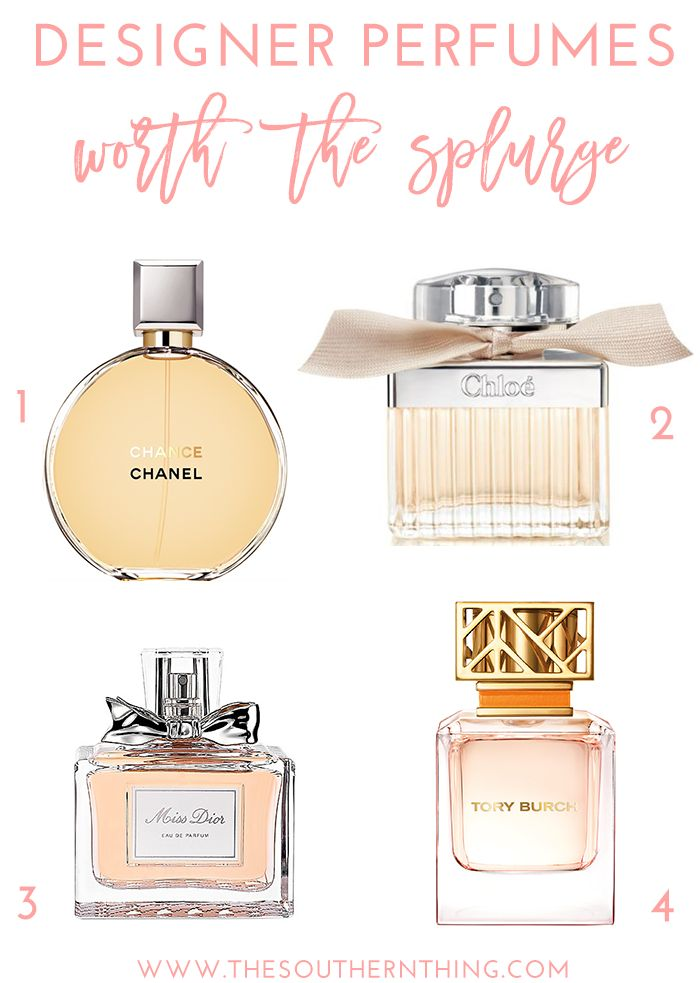 A list of top designer perfumes worth the splurge that smell amazing and last all day.