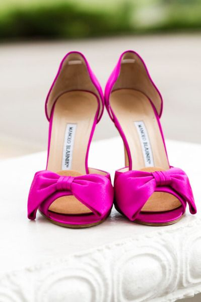 Bright pink Manolo Blahniks, image by IN Photography