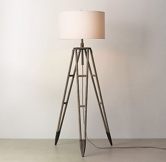 Vintage Surveyors Tripod Floor Lamp Base