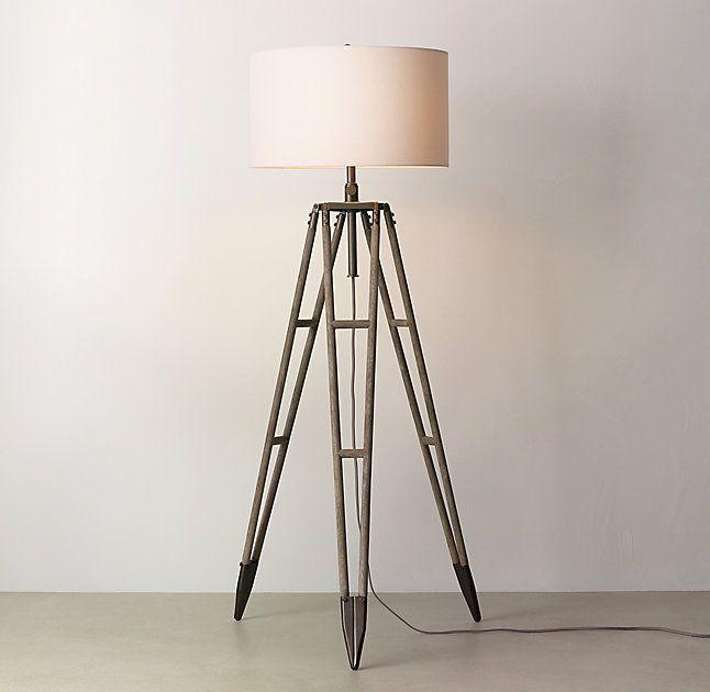 Vintage Surveyors Tripod Floor Lamp Base