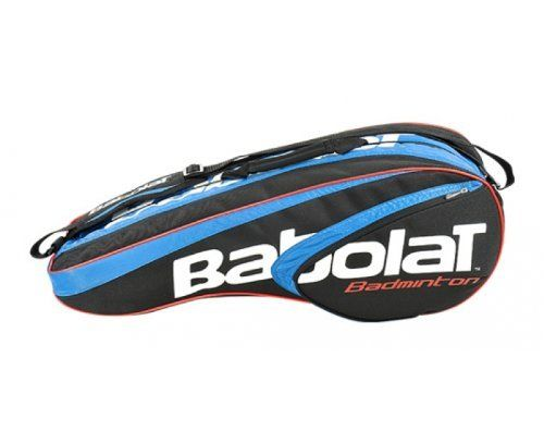 BABOLAT Badminton 8 Racquet Bag by Babolat. $59.48. The Babolat Racket Holder is a new addition to Babolat's range of Badminton Holdalls for 2012. The Bag is spacious enough to hold 8 badminton rackets and has plenty of room left over for personal accessories.Features:*2 shoulder straps*2 inside compartments*1 side pocket*1 shoe bag
