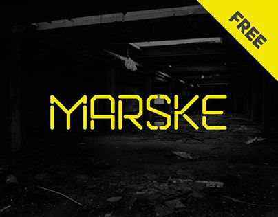 Marske is a FREE stencil display font which can support Russian, Ukrainian and Belarusian CyrillicDesigned by Kash Singh & Sergiy Tkachenko.  This font is free to download and use.  If you do use the font in any of your projects we would love to see how you guys use them.  License: declared as free, no proper license given.