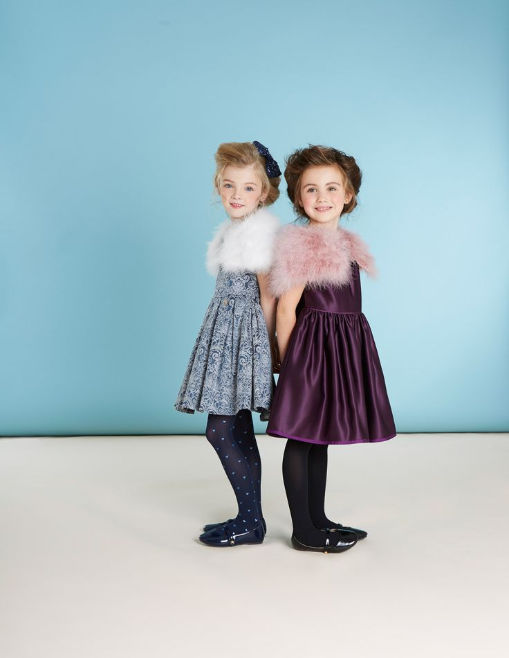 Patent shoes, fur shrugs and A-line dresses for girls from Paul Costelloe Living Occasion, exclusively for Dunnes Stores