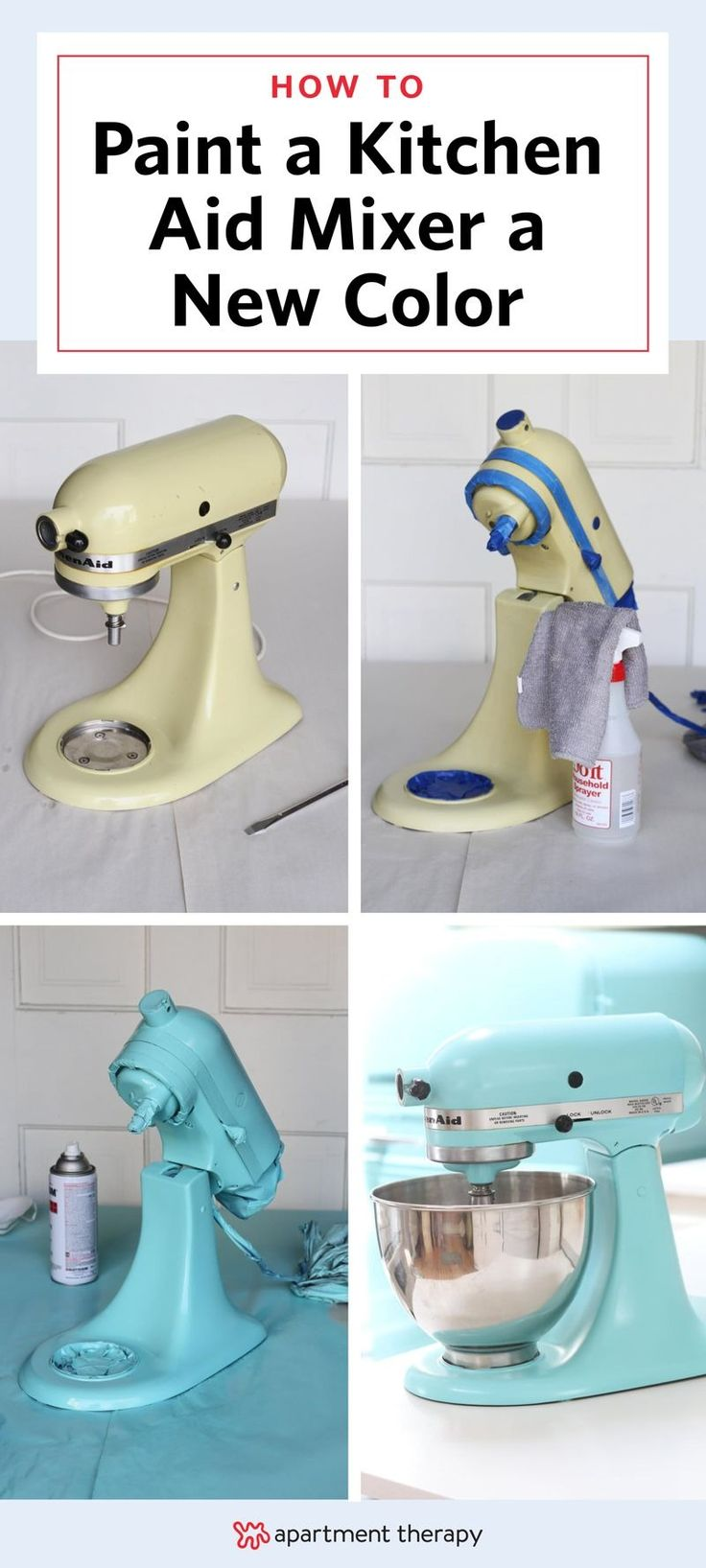 How to paint a kitchenaid mixer a new color kitchen art