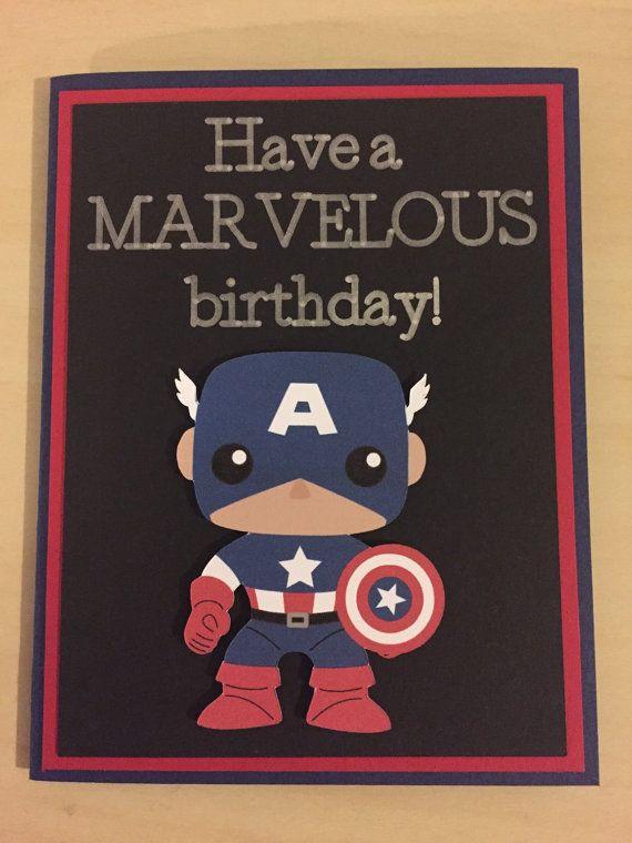 Disney Marvel Captain America homemade birthday card