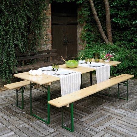 Table de pique nique pliable Brasseurs 8 places - Jardipolys - Plantes et Jardins