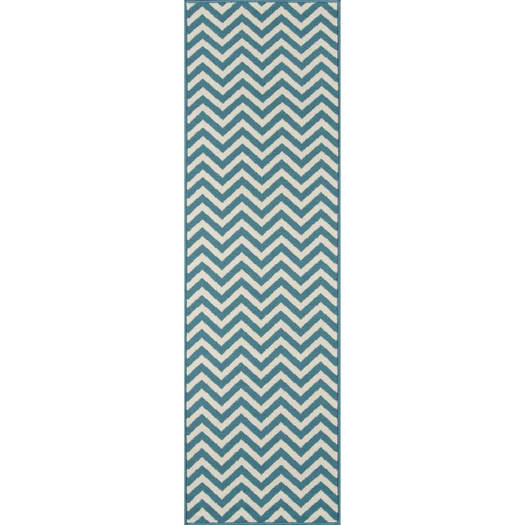 "Momeni Indoor/Outdoor Chevron Rug (2'3"" x 7'6"") (Sage (2'3""x7'6"")), Green, Size 2'3 x 7'6"