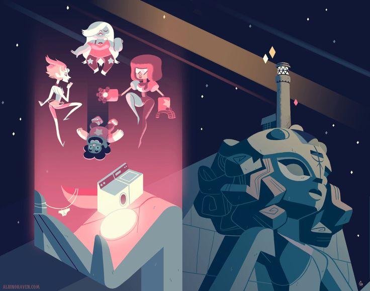 Steven Universe piece for an art show at Cartoon Network Studios