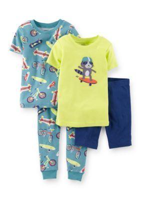 Carters  4-Piece Skateboard Theme Pajama Set