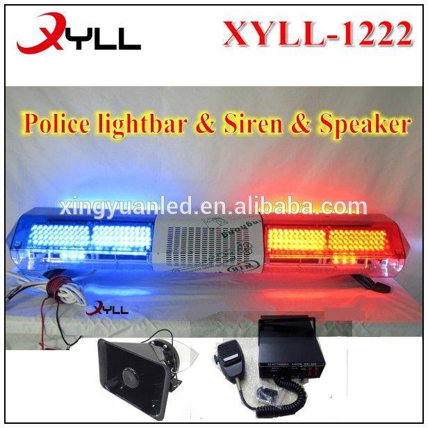 """High quanlity Full size waterproof 48"""" LED Strobe police light bar for sale wholesale light bar with siren speaker"""