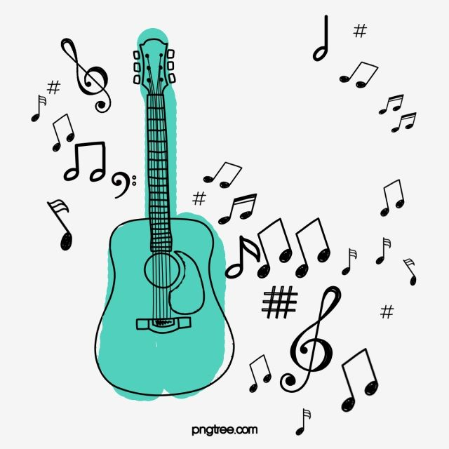 Cartoon Guitar Music Note Illustration Cartoon Clipart Guitar Clipart Music Clipart Png Transparent Clipart Image And Psd File For Free Download Guitar Clipart Music Clipart Cartoon Clip Art