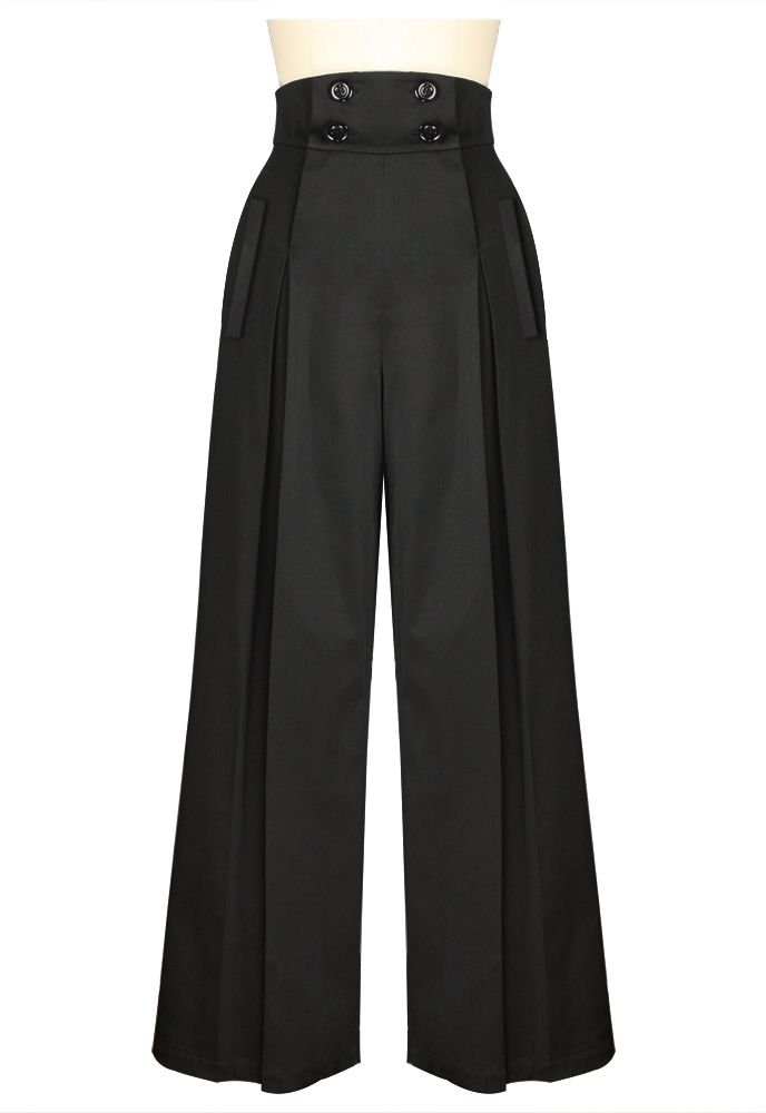 1940s Inspired High Waist Pants Chic Star design by Amber Middaugh Standard Size $39.95 Plus Size $49.95