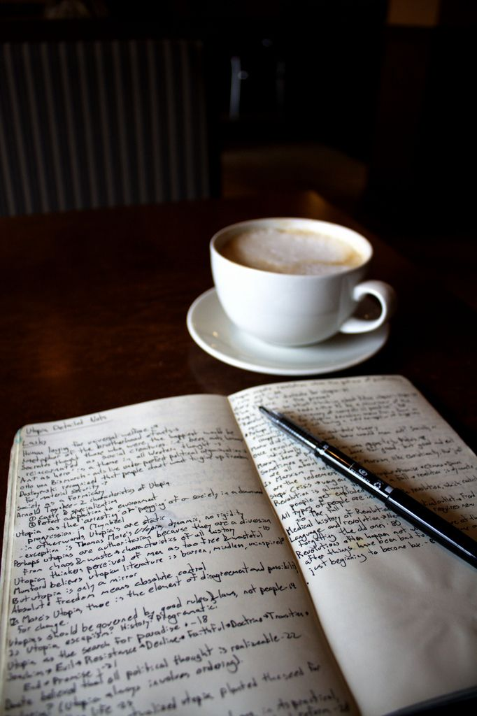 A little bit of silence, writing, and hot chocolate.