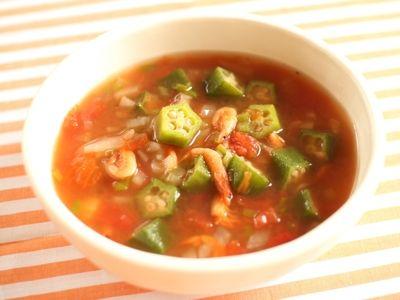 オクラと野菜たっぷりのヘルシーガンボ風スープ