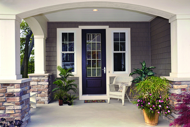 Accent Your Front Door With Our Profinish Brickmould Windows In 2020 Front Door Design Home Exterior Makeover House Exterior