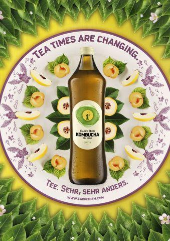 Epic Die neuen Printmotive f r die Carpe Diem Kombucha Tees erinnern an indische Mandalas