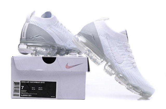new styles d9458 ff997 Nike Air Vapormax Flyknit 2019 Triple White Grey AJ6900-100 ...