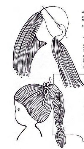 hacer el pelo de una muñeca