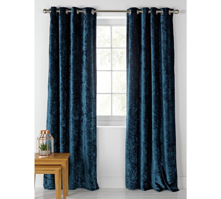 Buy Collection Cara Velvet Lined Curtains - 112x137 - Dark Teal at Argos.co.uk, visit Argos.co.uk to shop online for Curtains, Blinds, curtains and accessories, Home furnishings, Home and garden