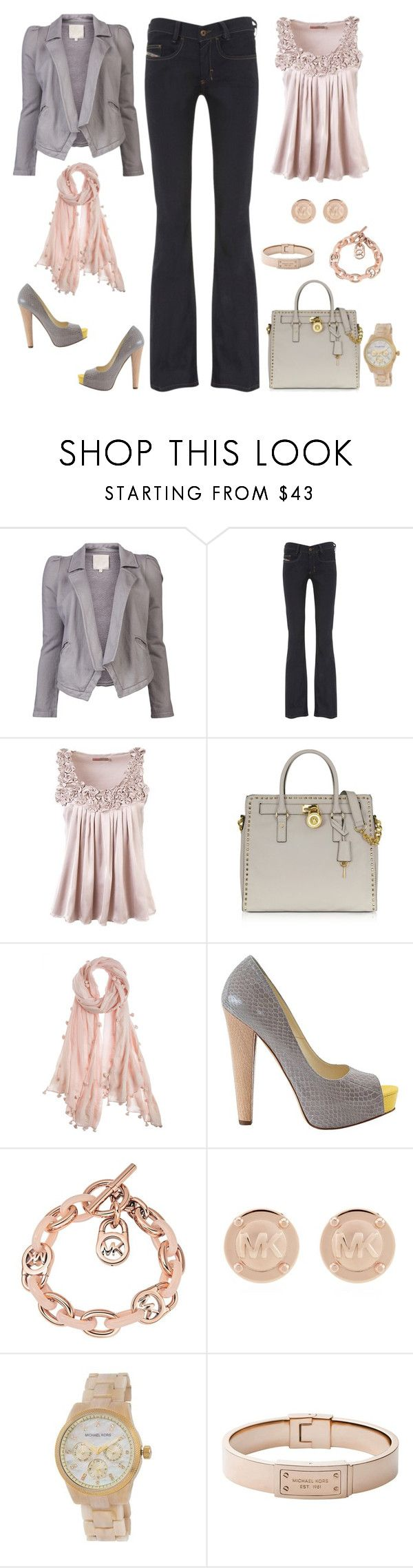 """Sans titre #18"" by carolinesaracosa77 on Polyvore featuring mode, Chaser, Diesel, Saint Tropez, Michael Kors, Chan Luu et Brian Atwood"