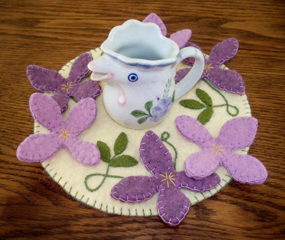 Clematis Candle Mat by JustJills on Etsy, $18.00