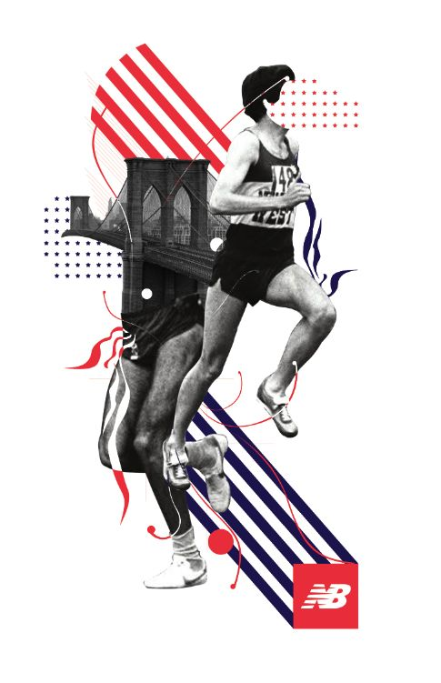 Balance is achieved in this poster for New Balance through the use of image…