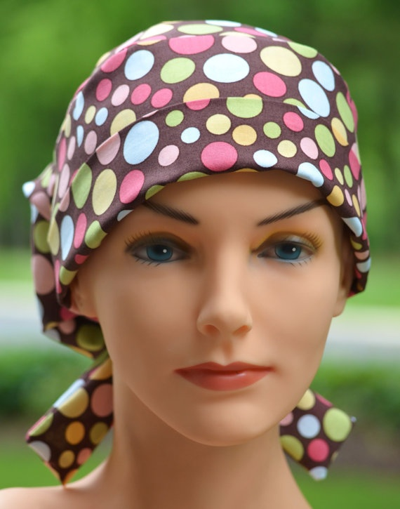 Scrub Hats for Women -  Happy Dots