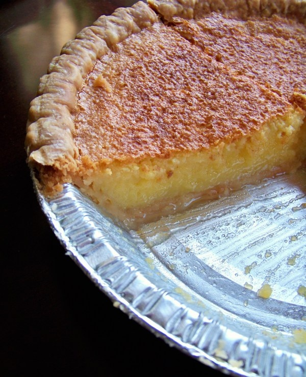 Lemon Chess Pie...OH!  From The Onyx Plate.