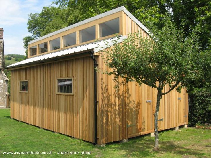 90 best shop building ideas images on pinterest for Clerestory style shed plans