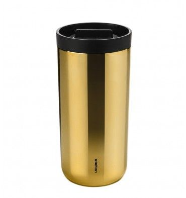 Kubek termiczny 0,45 L BRASS - Hot Metal - DECO Salon. Thermal Mug To Go 2.0 from Stelton in an extraordinary installment. Fashionable metallic colors of the season! #mothersday #work #forher #dzienmatki #dlaniej