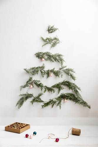 christmas tree alternatives ideas for small spaces lined pine
