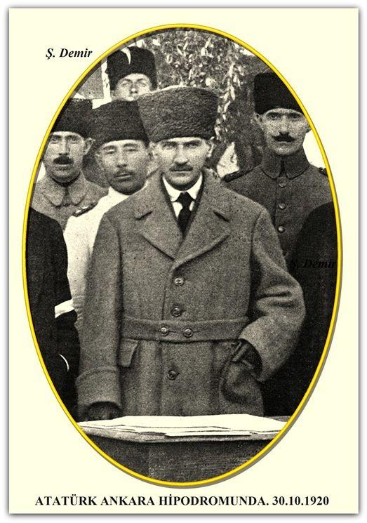 ATATÜRK ANKARA HİPODROMUNDA. 30.10.1920