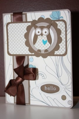 Stampin Up owl punch card by the Pursuit of Stampiness