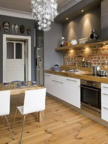 Kuchnia bez górnych szafek