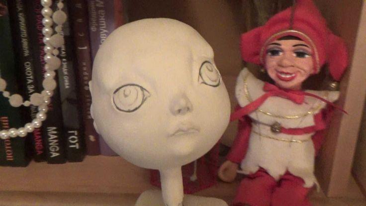 Лепка головы куклы из самозатвердевающего пластика. Часть 1