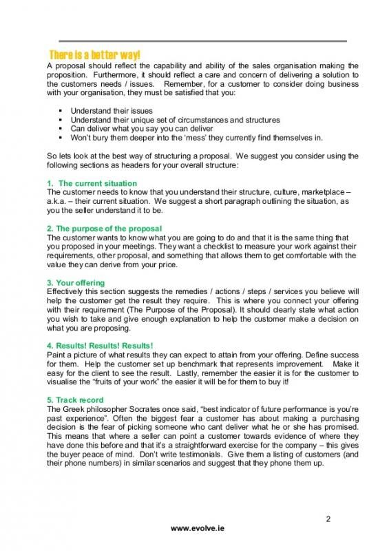 Sales Proposal Example template Sales proposal, Proposal writing