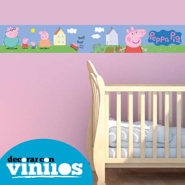 1000 images about cenefas infantiles on pinterest peppa - Cenefas para habitaciones ...