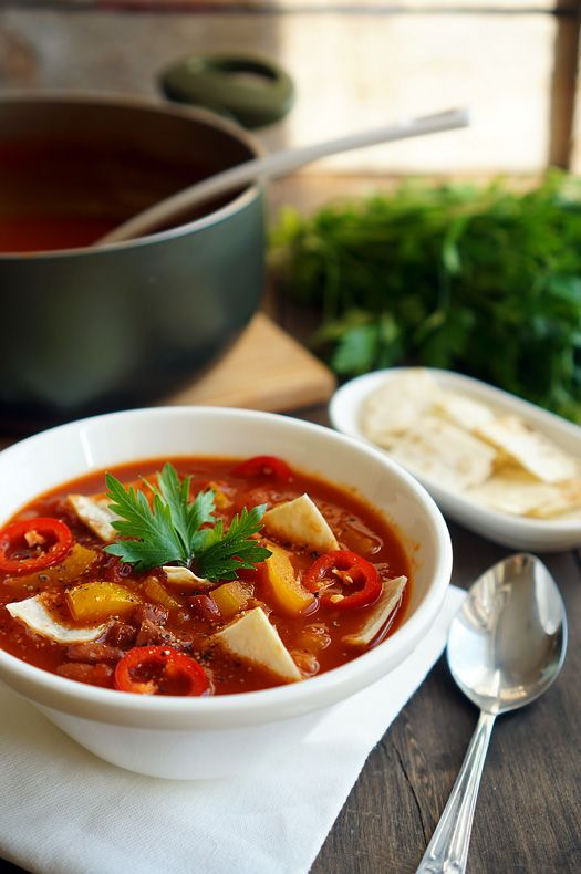 Мексиканский суп с чипсами, пошаговый рецепт с фото, фуд-блог и интернет-магазин…
