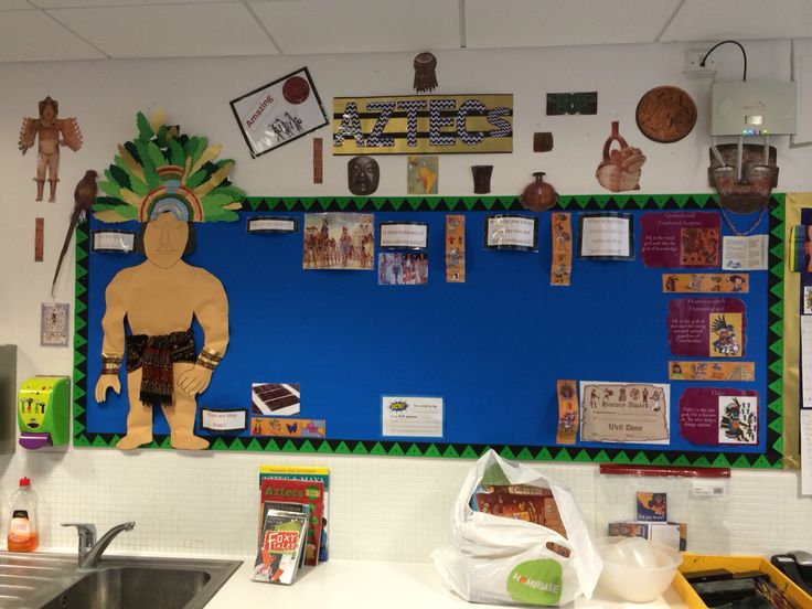 Aztec Classroom Decor ~ Aztec classroom display pin to vote arundel class in our