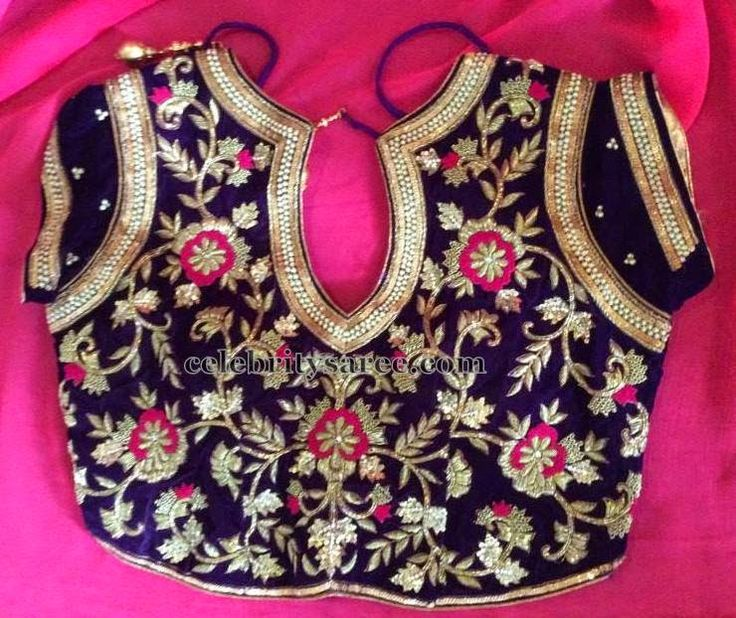 Open Neck Customized Blouse | Saree Blouse Patterns