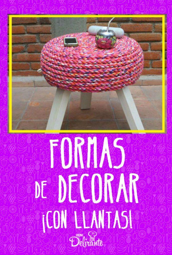 10 decoraciones para tu hogar hechas con llantas for Decoraciones para tu hogar