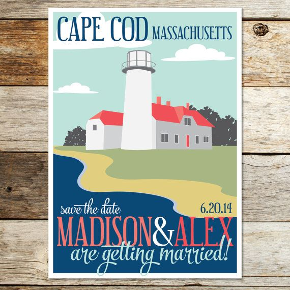 Lighthouse wedding save the date! Perfect for your seaside wedding!