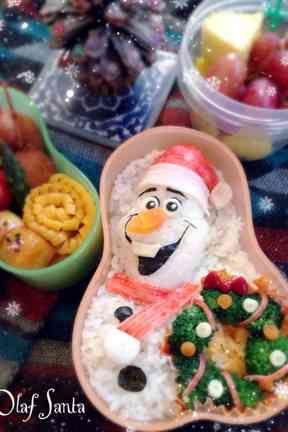 おら、オラフ弁当☃アナと雪の女王❄︎キャラ弁の画像