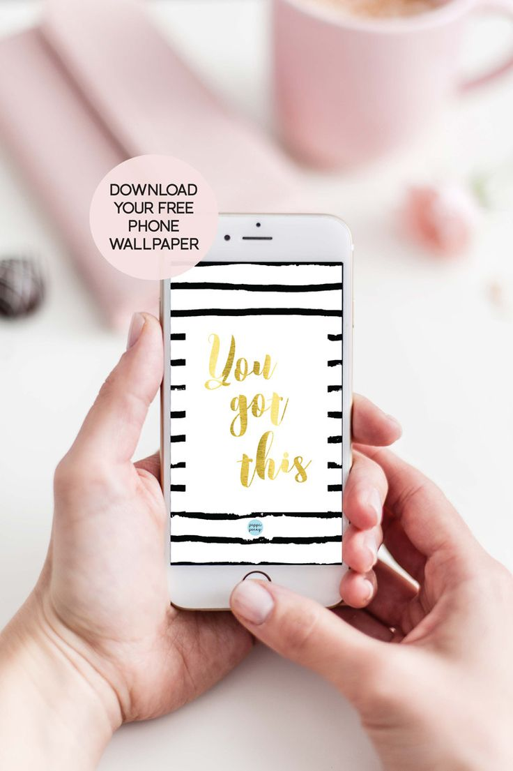 You got this! Gold foil FREE downloadable wallpaper for your phone! Get it now!