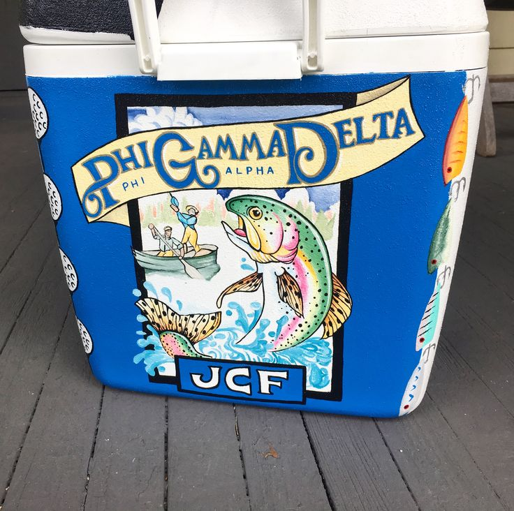 Sweet water brewing painted fraternity Cooler