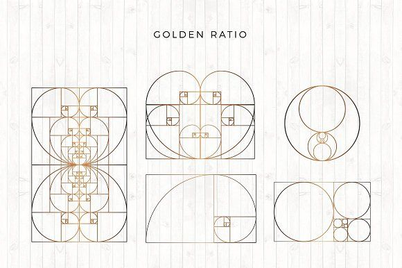 Golden Ratio Pencil Illustration Business Card Logo Creative Sketches