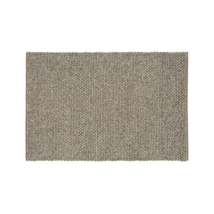 Yvonne Grey Wool-Blend 4'x6' Rug | Crate and Barrel