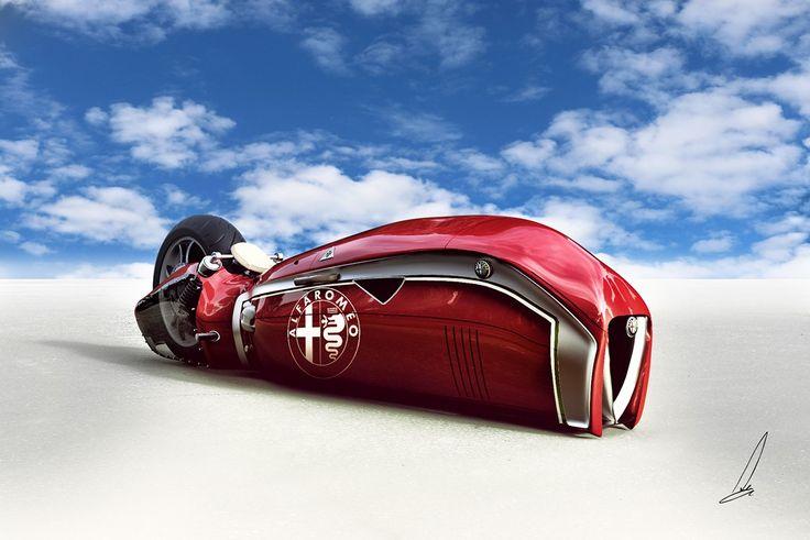 Spirito the insane Alfa Romeo tribute bike.
